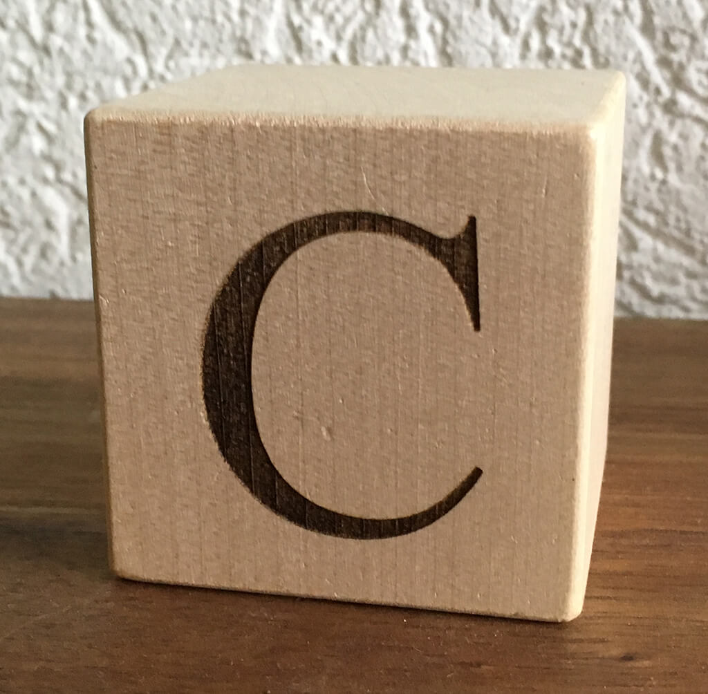 Buchstabenwürfel Ahorn C