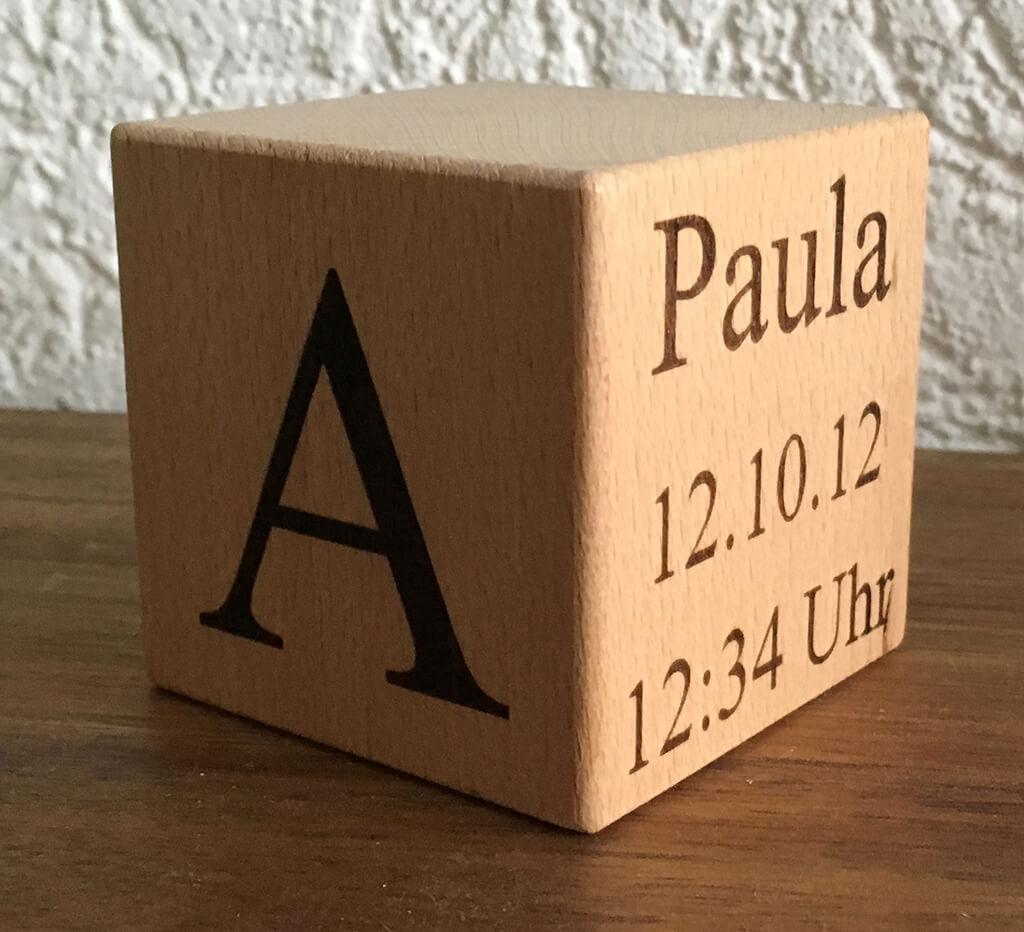 Buchstabenwürfel A Paula